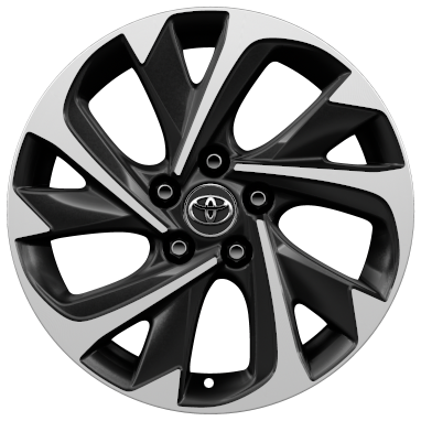 "17"" machined-face alloy wheels (5-double-spoke)"
