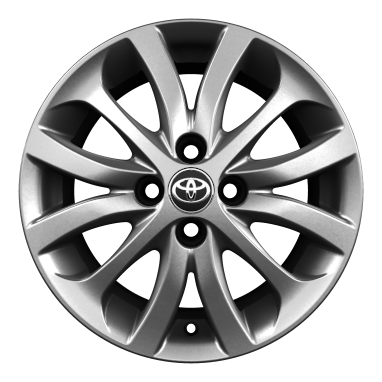 "15"" alloy wheels (12-spoke)"