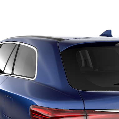 Privacy glass on rear windows