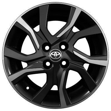 "16"" machined-face alloy wheels (5 double-spoke)"